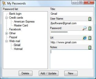 Password window